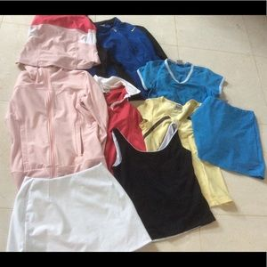 Bundle of 9 Nike tops bottoms and jackets sz small